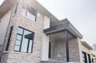 Designs by Santy :: Escarpment Modern Front elevation with covered porch