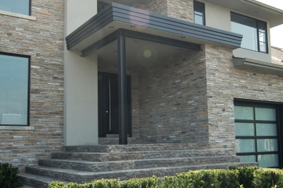 Designs by Santy :: Escarpment Modern Front elevation with raised steps