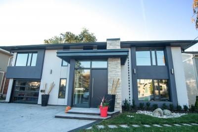 Designs by Santy :: Hillside Transformation AFTER - Front elevation