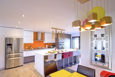 Designs by Santy :: Hillside Transformation Kitchen with centre island