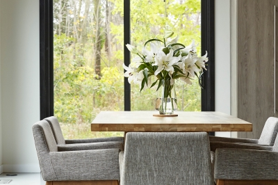 Designs by Santy :: Bridge House Dining room window