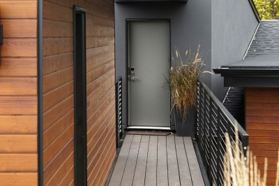 Designs by Santy :: Bridge House Bridge from garage to upper level