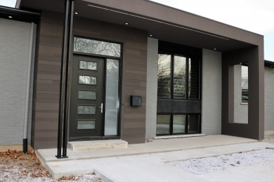 Designs by Santy :: Saturn Transformation After - Front Elevation with modern porch