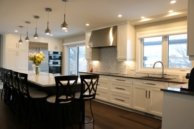 Designs by Santy :: Saturn Transformation Kitchen with island seating