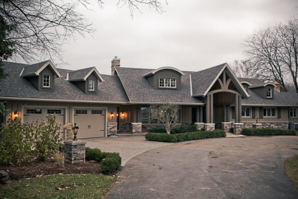 Designs by Santy :: Country Ranch AFTER - Front elevation with new timber entry porch and dormers