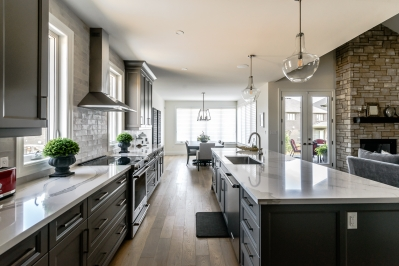 Designs by Santy :: Transitional Bungalow Kitchen view to dining area