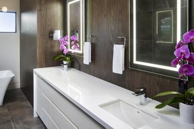 Designs by Santy :: Modern Prairie ensuite with jack-and-jill vanity