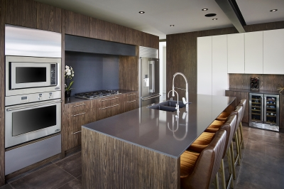 Designs by Santy :: Modern Prairie kitchen with island and exposed beam