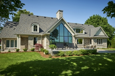 Designs by Santy :: French Country Revival AFTER - Rear exterior with feature window