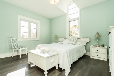Designs by Santy :: Manor House Bedroom with high arched dormer