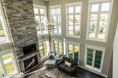 Designs by Santy :: Manor House Lookout view to great room
