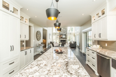 Designs by Santy :: Manor House Kitchen view to great room