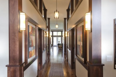 Designs by Santy :: Riverhouse Hallway with view to great room