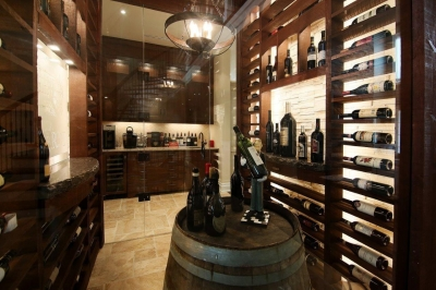 Designs by Santy :: Parkway Playhouse Wine room with servery